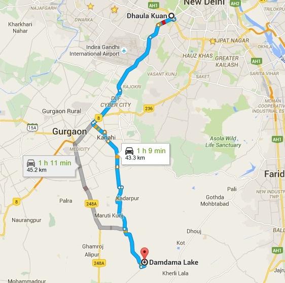 Damdama Lake Route