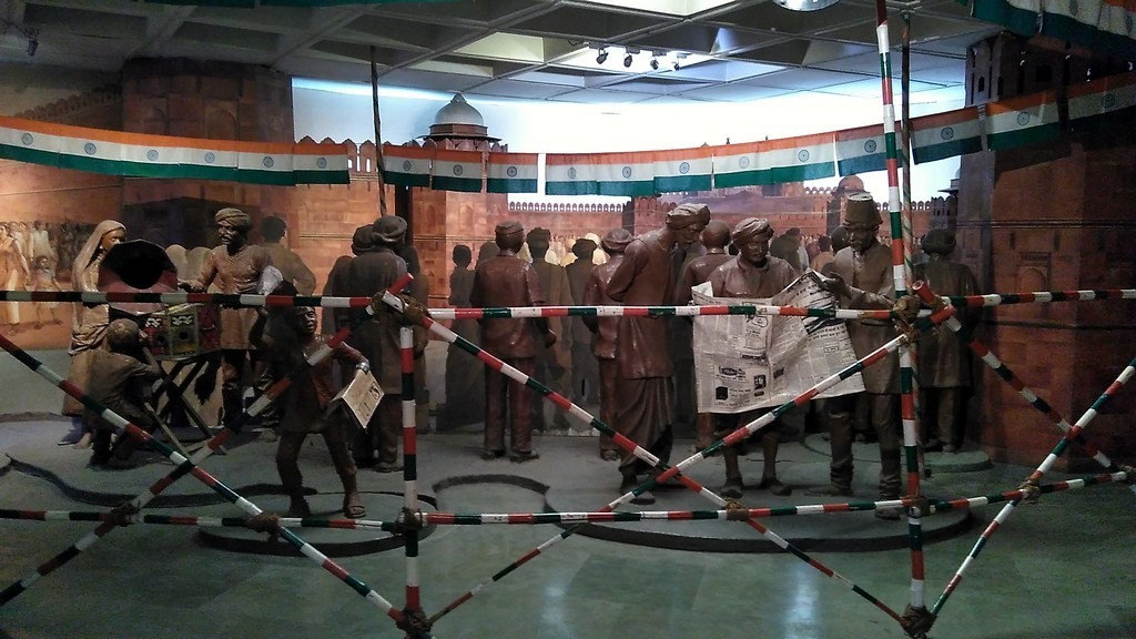 Model Showing Pre Independence Gathering Near Red Fort