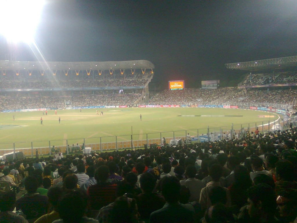 Crowd Enjoying The Match at Eden Gardens