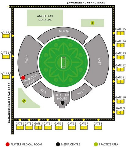 Feroz Shah Kotla Seating Layout