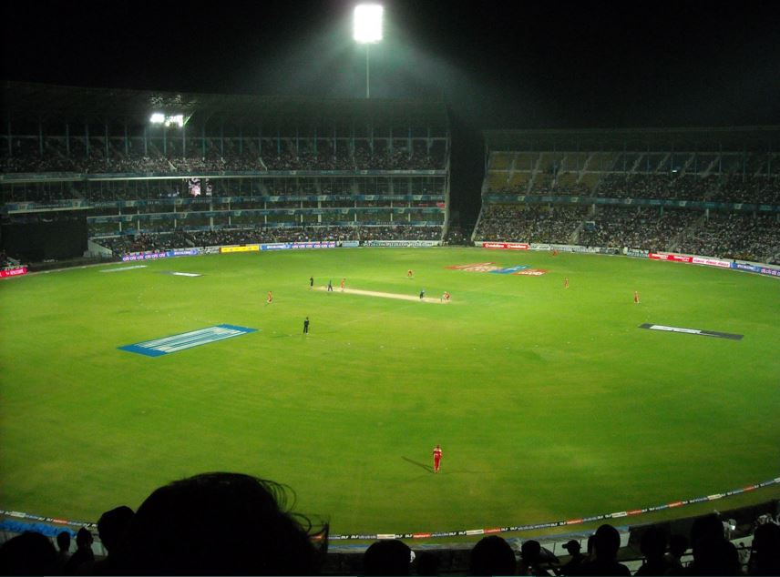 Spectators Enjoying Cricket Match at Wankhede Cricket Stadium