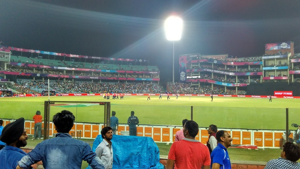 Spectators Enjoying The Match at Feroz Shah Kotla Cricket Stadium