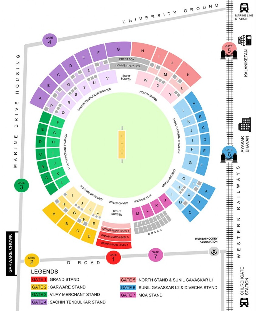 wankhede stadium seating arrangement
