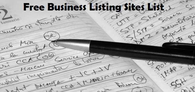 Free Business Listing Sites List