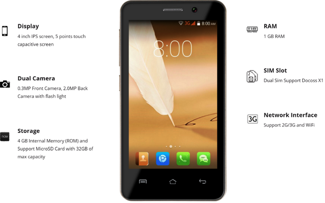 Docoss X1 Features and specification