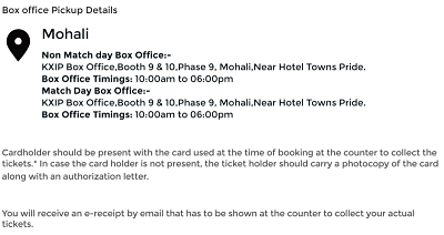 Online Ticket Booking Procedure and Box Office Address
