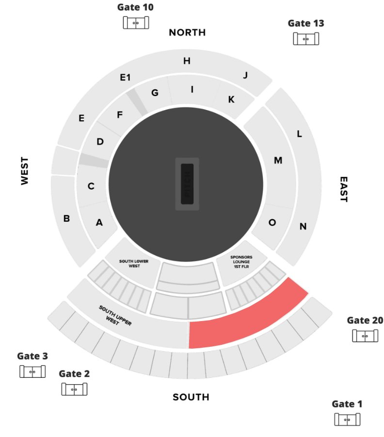 India vs England 2nd Test Seating and Stadium Layout