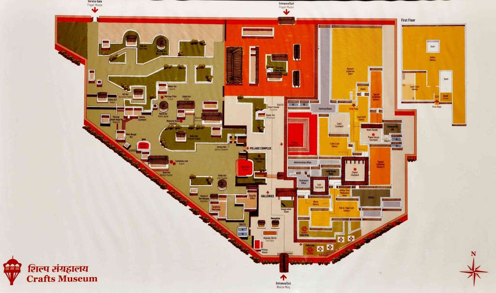 Crafts Museum Delhi Map