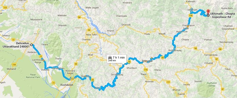 How to Reach Chopta from Dehradun