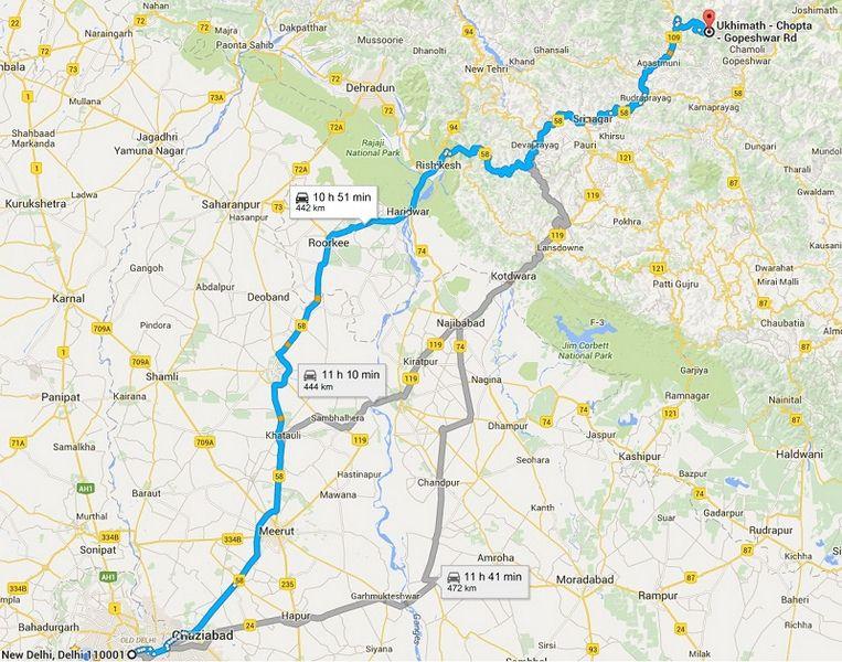 How to Reach Chopta from Delhi