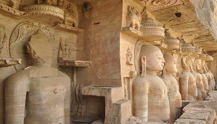 Jain Idols at Gopachal Parvat, Gwalior Fort