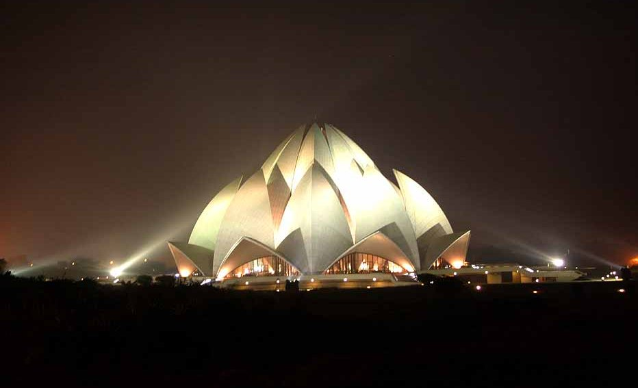 Lotus Temple in Night
