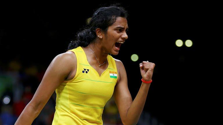 P V Sindhu at Rio Olympics Final