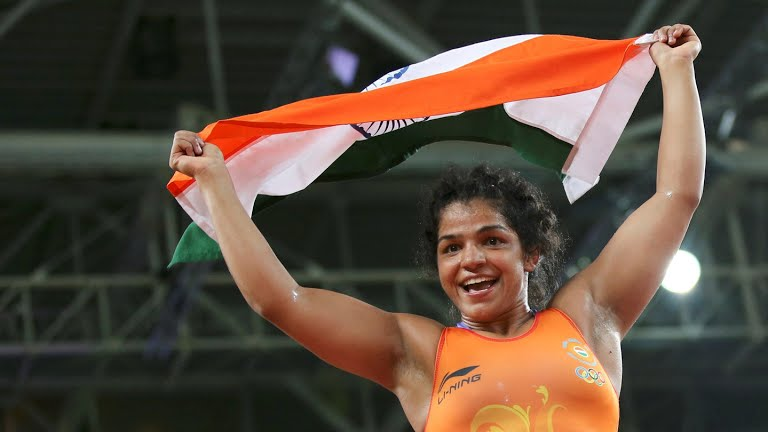 Sakshi Malik wins Bronze in Women Wrestling at Rio Olympics
