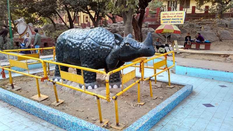Animal Sculpture in Birla Temple Lawn