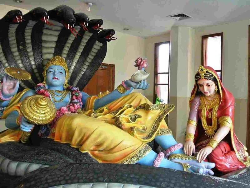 Lord Vishnu Iskcon Temple Delhi