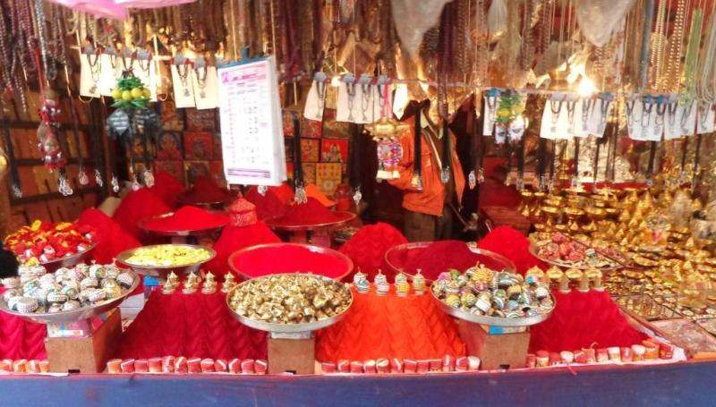 Religious Items Shop at Kalkaji Temple