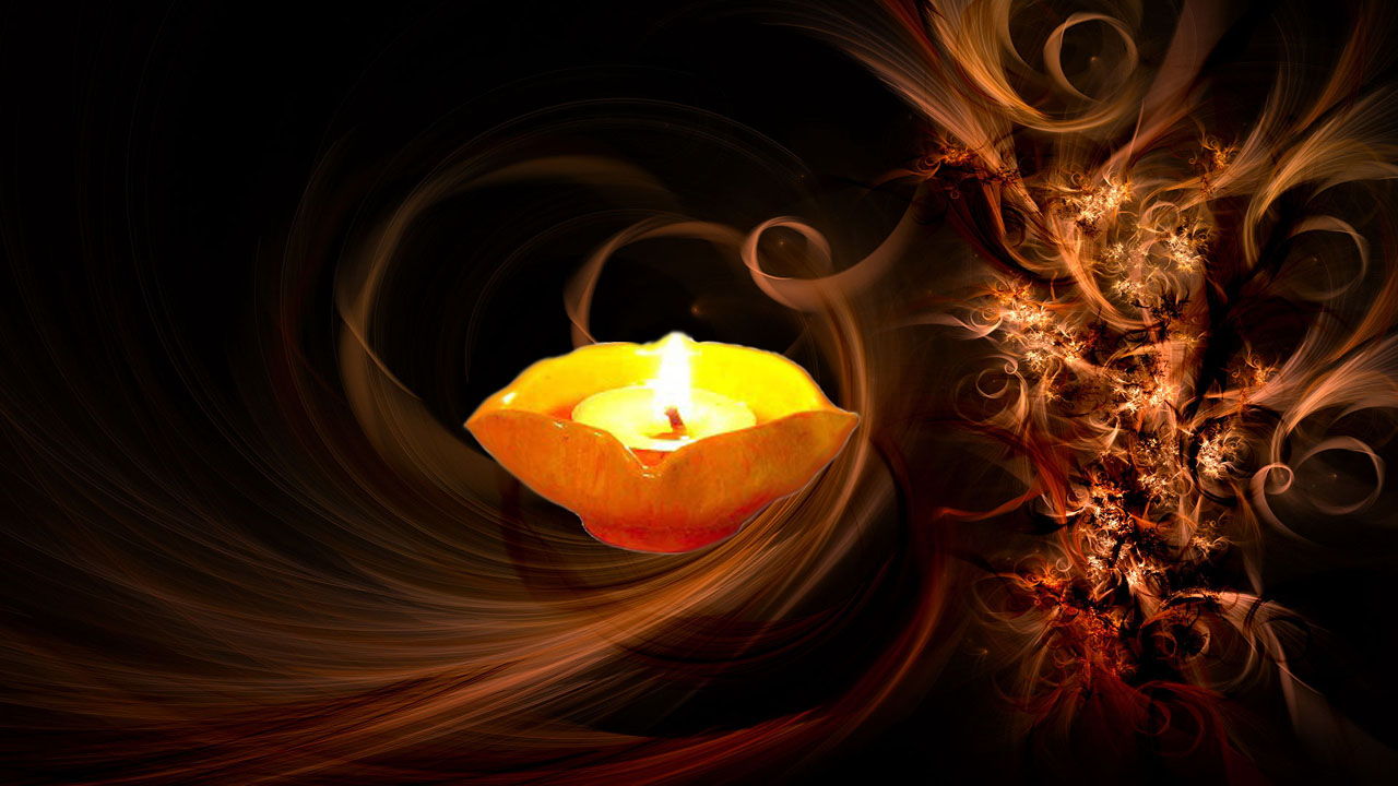 Beautiful Diwali Wallpaper with Diya