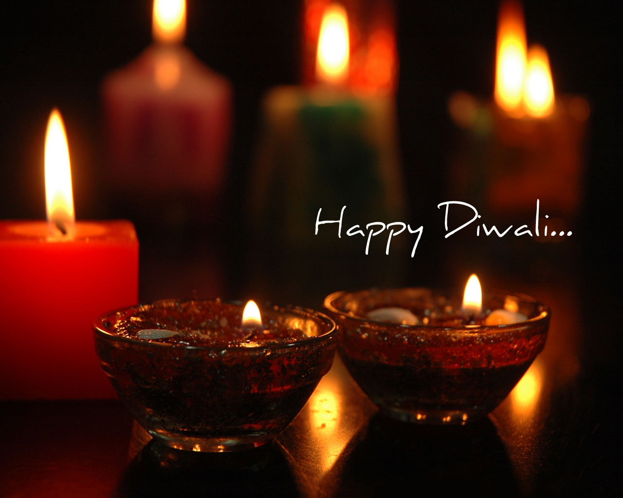 Diwali Wallpaper Candles