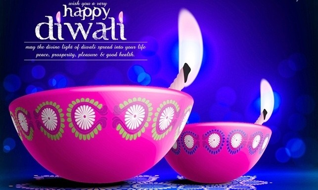Diwali Wallpaper Pink Diya