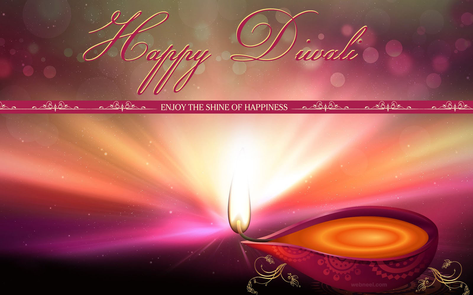 Diwali Wishes with Candles