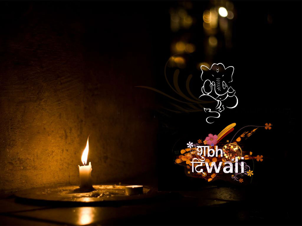 Happy Diwali Dark Color Wallpaper