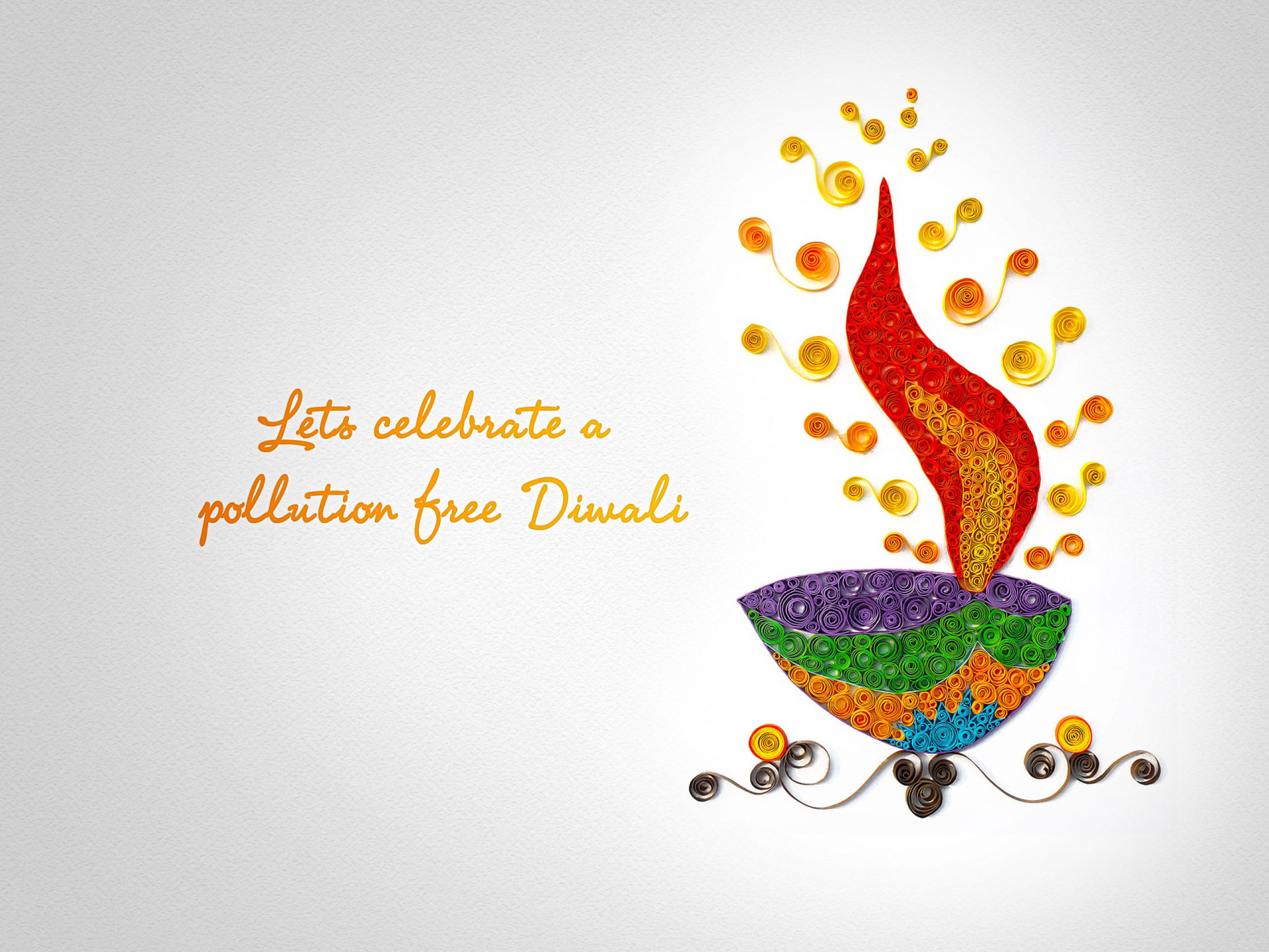 Happy Diwali Pollution Free Message Card