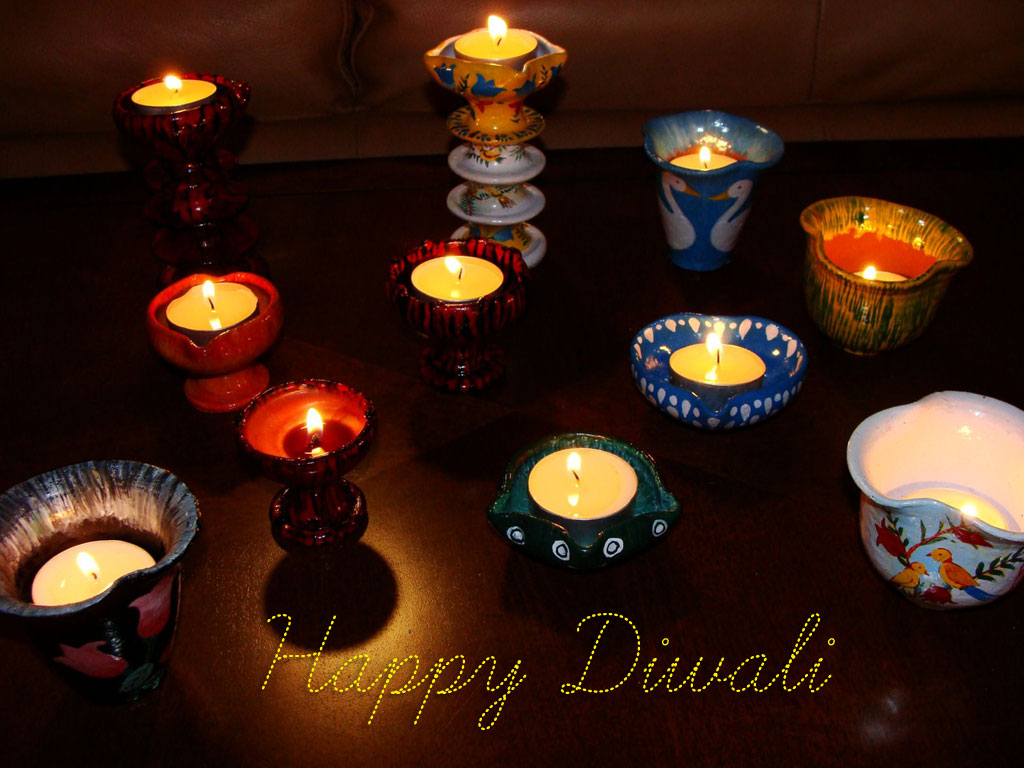 Happy Diwali Colorful Wallpaper