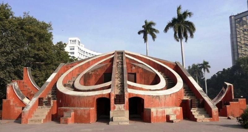 Jantar Mantar Delhi consists of 13 architectural astronomy instruments