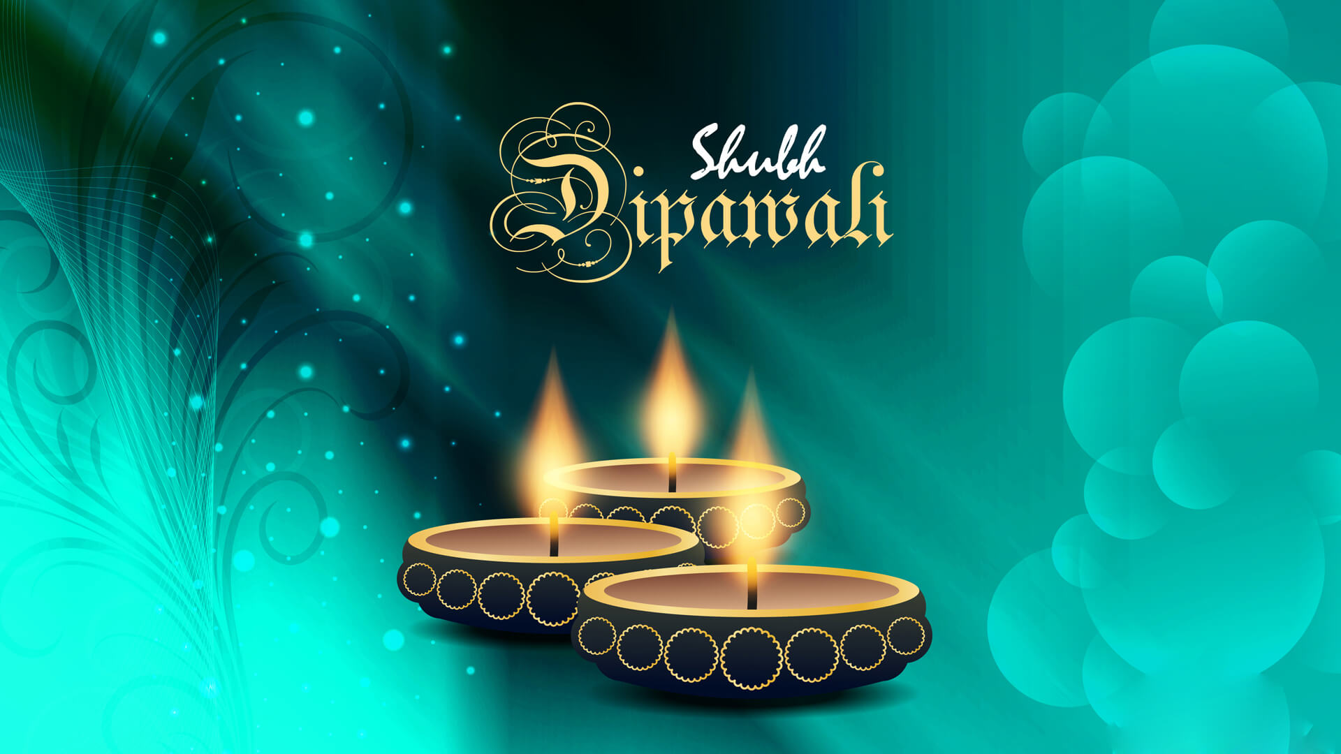 Shubh Dipawali English Wallpaper