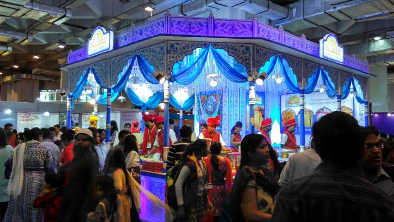 decorative stall at trade fair 2016