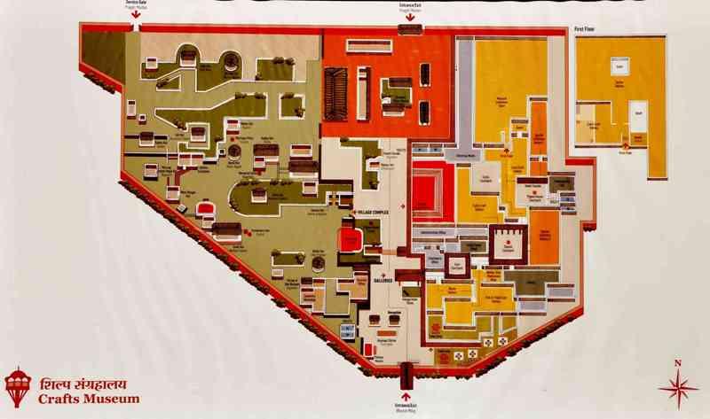 Crafts Museum Delhi is located near Pragati Maidan