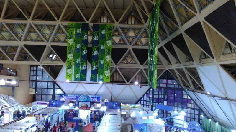 Inside a hall in IITF 2016