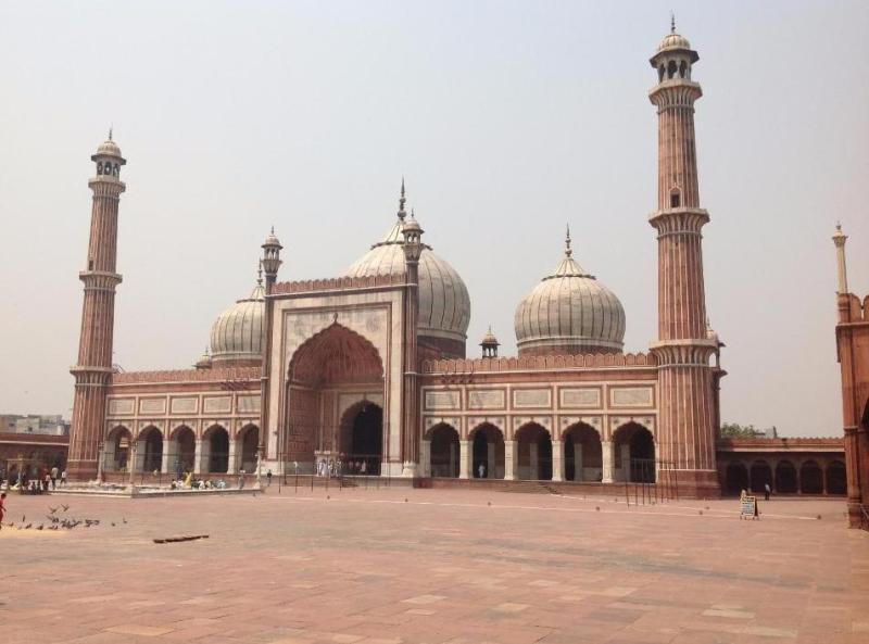 Jama Masjid Delhi with Minarets and Domes