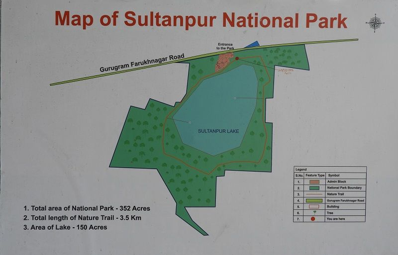 Map of Sultanpur National Park