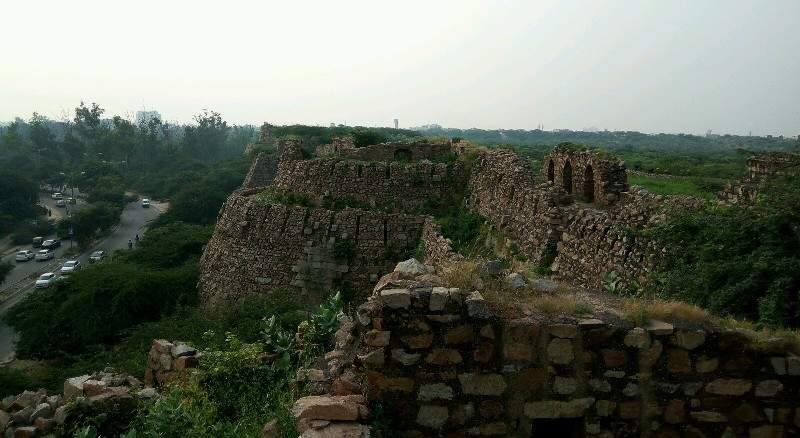 View from Tughlaqabad Fort