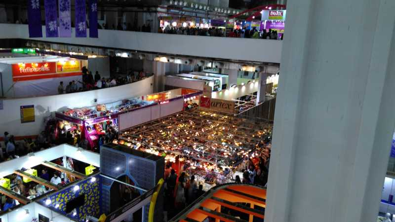 Inside view of Hall No. 18, Pragati Maidan
