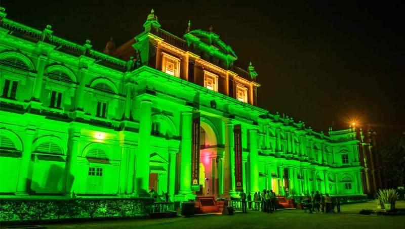 Jai Vilas Palace Gwalior Illuminated in Night