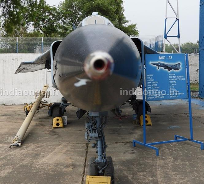 MIG 23 Fighter Jet in Air Force Museum New Delhi