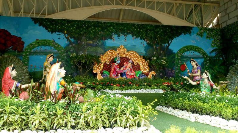Lord Idols inside Prem Mandir Complex Vrindavan