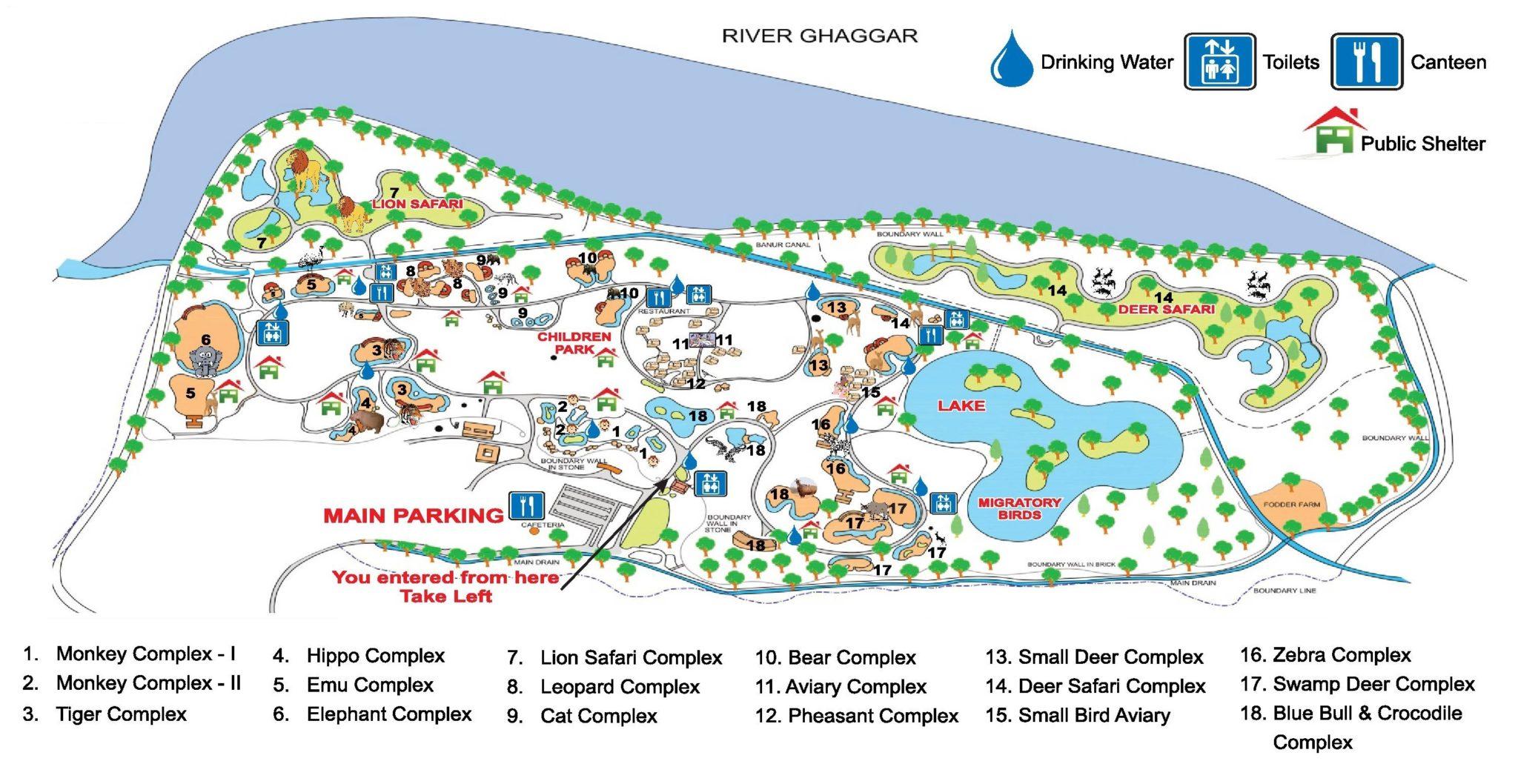 Chhatbir Zoo Map and Layout