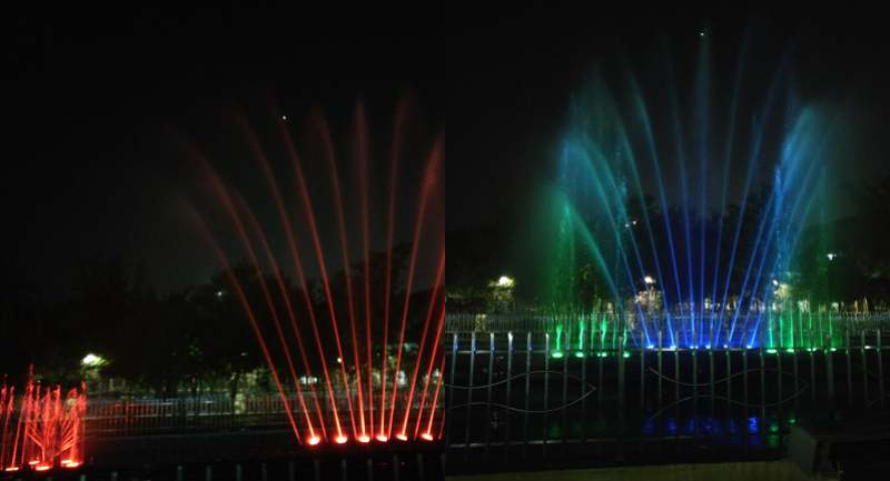 Colourful Musical Fountains at Regional Park Indore