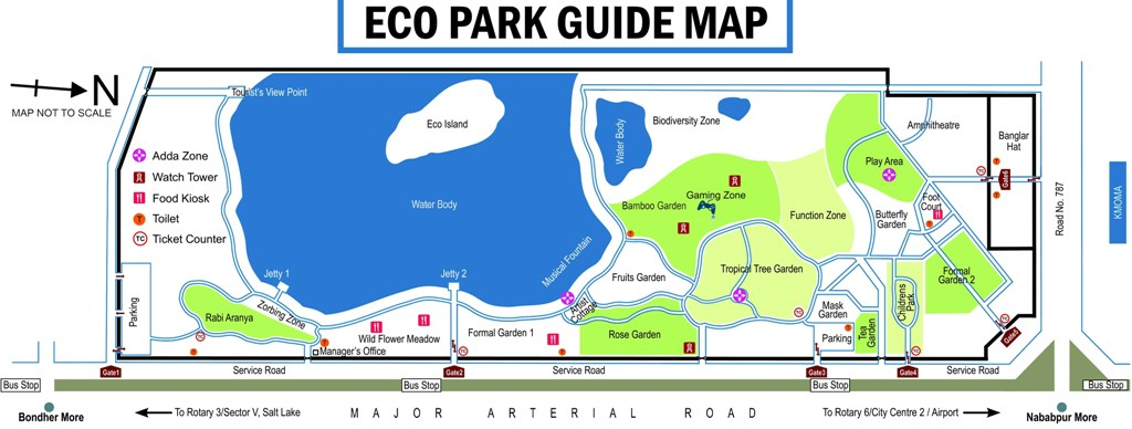Eco Park Kolkata Guide Map and Layout