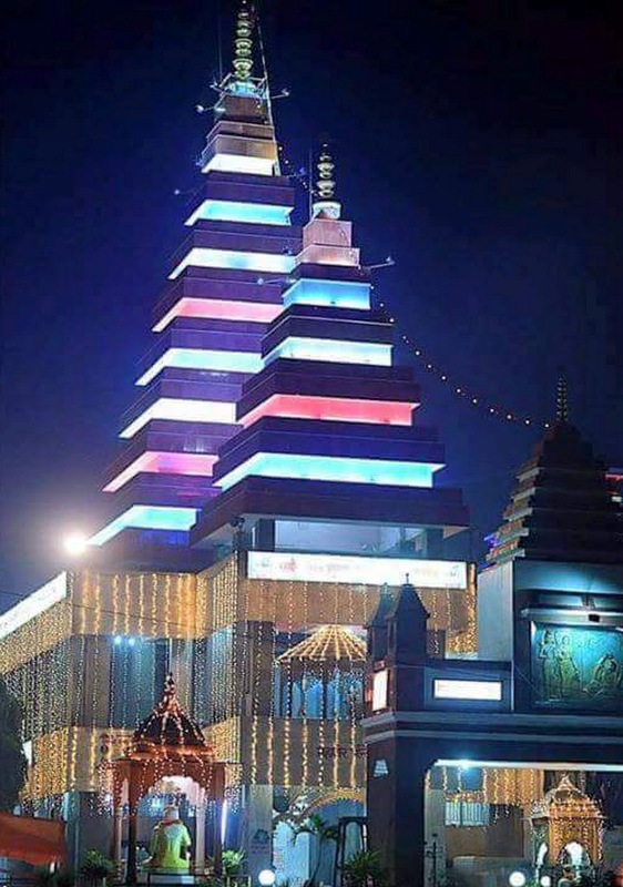 Mahavir Mandir Patna in Night Time, It is located in Railway Station Complex