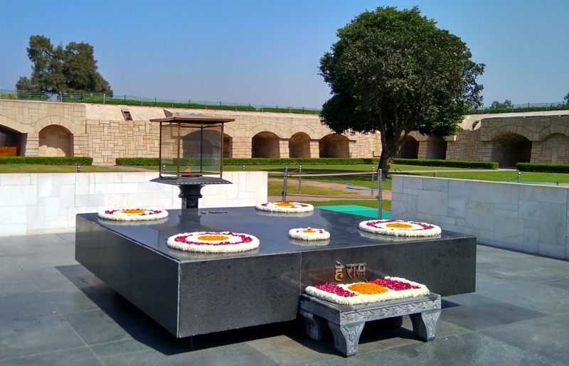 Raj Ghat Delhi, showing Black Marble Platform