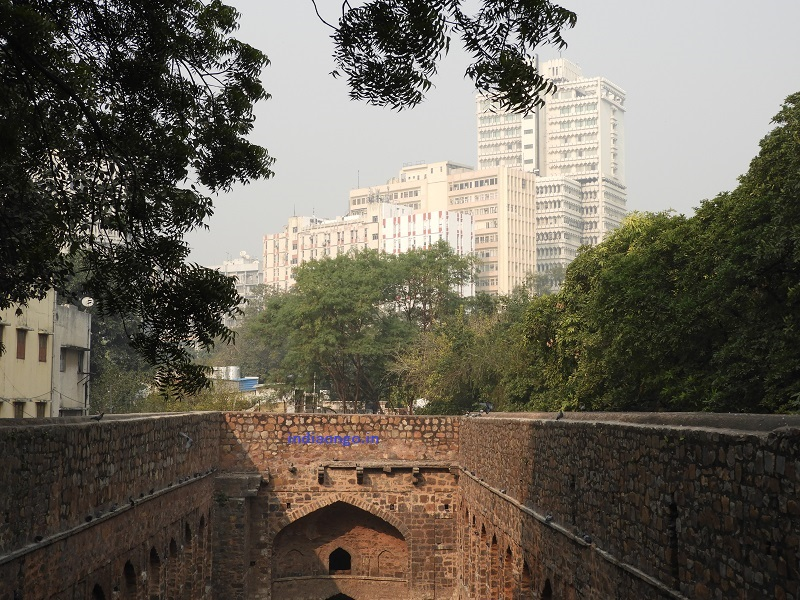 View of CP Buildings from the Agrasen Ki Baoli