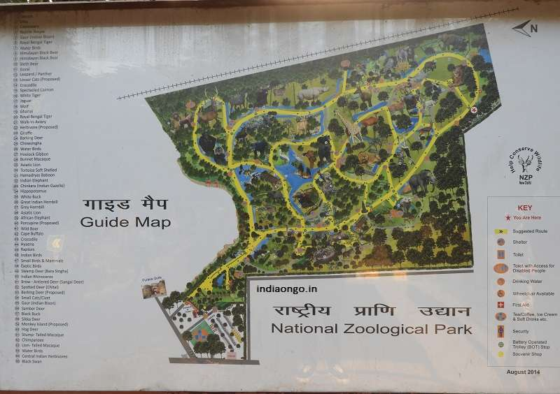 Delhi Zoo Guide Map