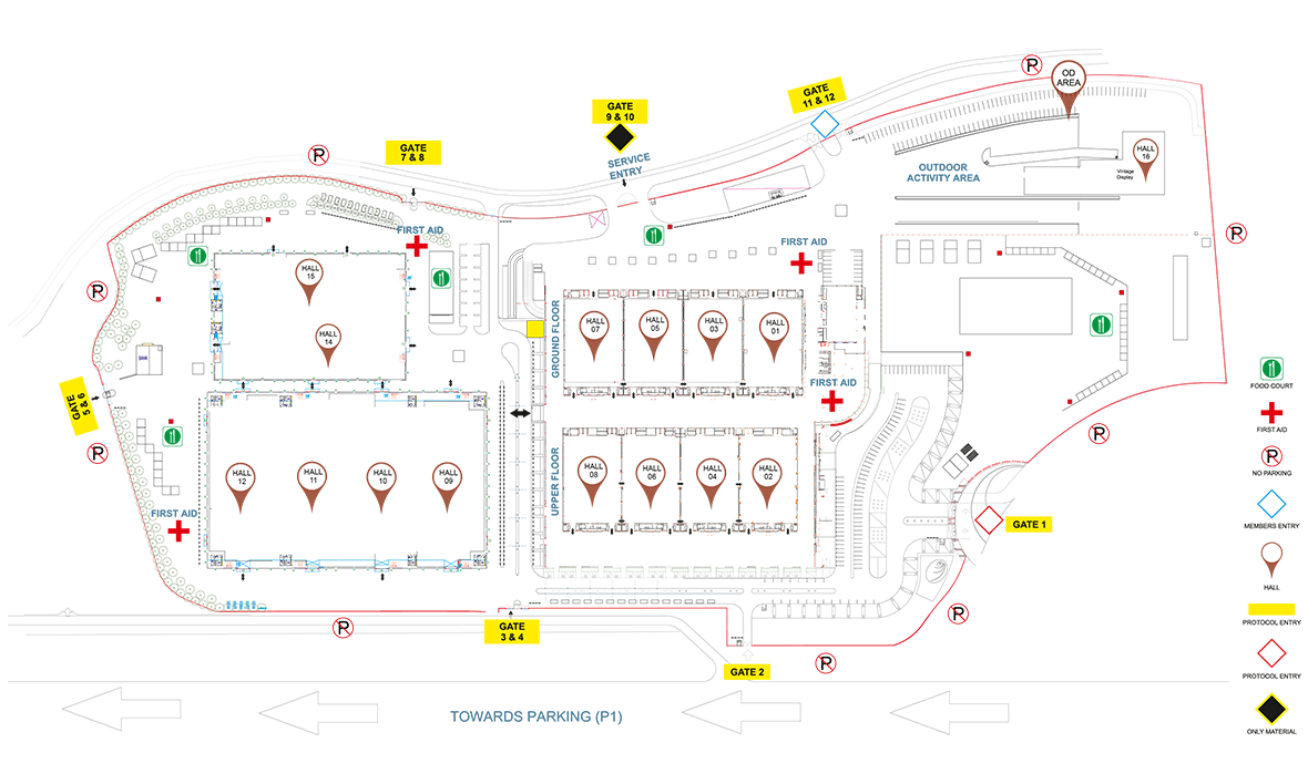 Auto Expo 2018 Map