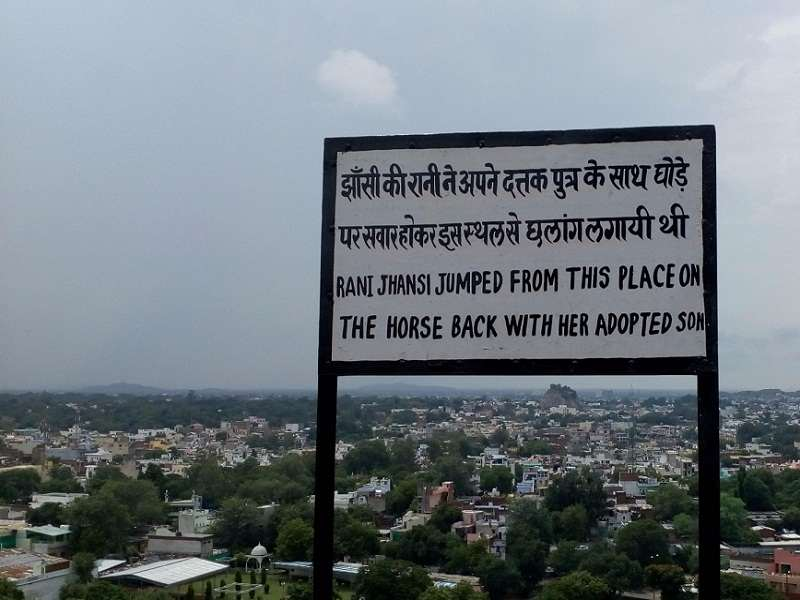 Board display the location from Queen of Jhansi Jumped