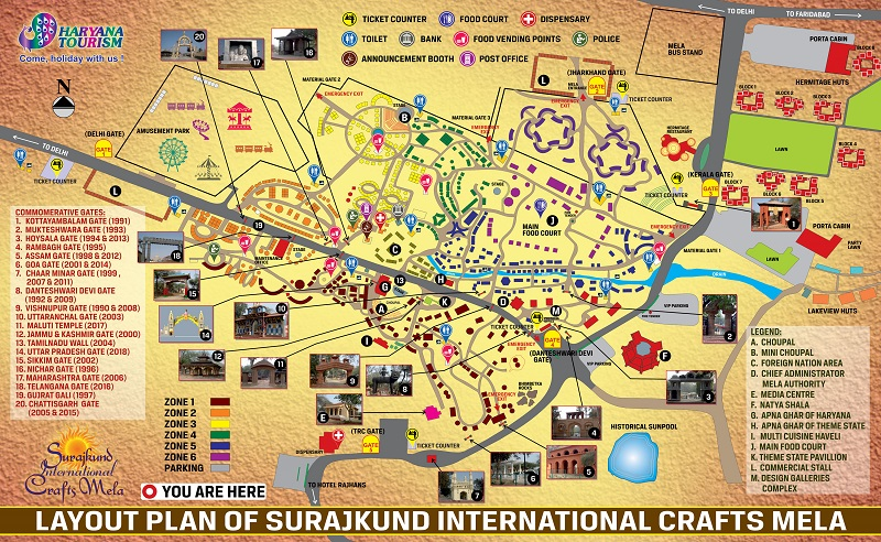 Surajkund Mela Guide Map with all markers